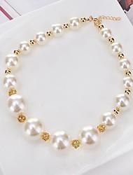 cheap -Women's Round Circle Shape Personalized Circular Unique Design Classic Choker Necklace Pendant Necklace Chain Necklace Rhinestone