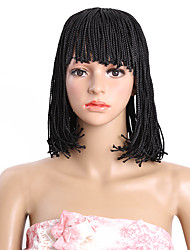 12inch Braids Box Braid Wig African American Bob Wig Short Synthetic Wigs for Black Women