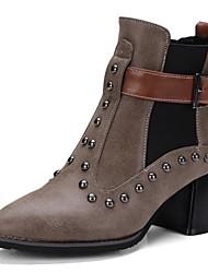 Недорогие -Для женщин Ботинки Для прогулокВ ковбойском стиле Верховые ботинки Модная обувь Мотоциклетные ботинки Ботильоны Армейские ботинки