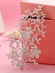 cheap -Rhinestone Alloy Flowers Headwear Hair Clip Hair Claws with Floral 1pc Wedding Special Occasion Birthday Party / Evening Headpiece