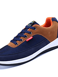Men's Sneakers Comfort Light Soles Spring Fall Breathable Mesh PU Casual Office & Career Lace-up Flat Heel Black Dark Blue Brown Under 1in