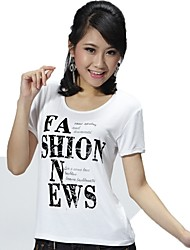KNF Women's Casual Short Sleeves T-shirt Lady's Soft Comfortable Thin Round Neck Shirt