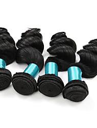 Loose Wave Hairs 4 Bundles Brazilian Virgin Hair Weft 400 gram Human Hairs Brazilian Texture Loose Wave Women Hair