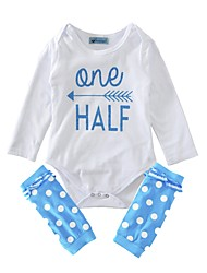 Baby Girl's Cotton Indoor Outdoor Casual/Daily Fashion Polka dots Clothing Set,Dot Spring/Fall Summer