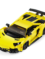 cheap -XingBao 03008 924Pcs Creative MOC Technic Series The Yellow Flash Racing Car Set Educational Building Blocks Bricks Toys Model