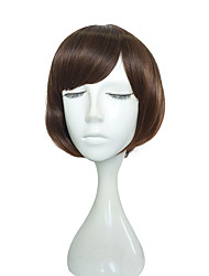cheap -12 inch Short Wig Synthetic Fiber Wig Kinky Straight Hairstyle Wig For Women High Temperate Fiber Hair