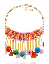 cheap -Women's Circle Bikini Punk Statement Jewelry Chrismas Open Statement Necklace Jewelry Flannelette Alloy Statement Necklace , Party