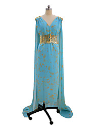 Costumi Cosplay Vestito da Serata Elegante Da principessa Regina Cosplay Game of Thrones Madre dei Draghi Cosplay da film Blu Abiti