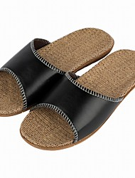 cheap -Men's Shoes Synthetic Summer / Fall Comfort Slippers & Flip-Flops Black / Light Brown / Dark Brown