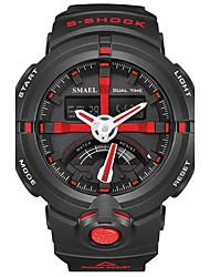 Men's Kid's Sport Watch Chinese Digital PU Band Black White Red