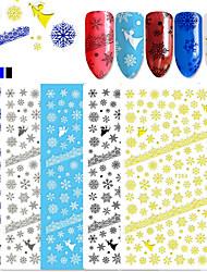 5 Nail Art Sticker  Pattern 3D Nail Stickers 3-D Christmas Sticker DIY Supplies Makeup Cosmetic Nail Art Design