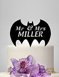 economico -cake topper wedding wedding di plastica con poly bag ricevimento di nozze