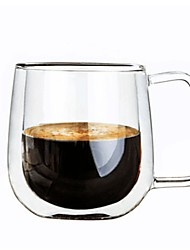 cheap -Glass Mug Wine Glass Double Wall Heat-Insulated 1 Coffee Milk Drinkware