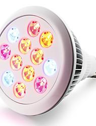 cheap -280-320 lm E27 Growing Light Bulbs 12 leds High Power LED Red Blue AC 85-265V