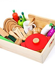 baratos -Conjuntos Toy Cozinha Aparelhos para cozinhar alimentos para crianças Brinquedos de Faz de Conta Brinquedo Educativo Vegetais Cortadores