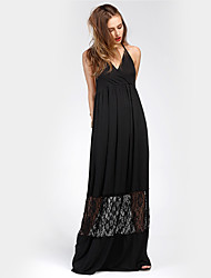 Women's Party Holiday Going out Casual/Daily Club Sexy Vintage Street chic Loose Dress,Embroidered Boat Neck Maxi Short Sleeves Polyester