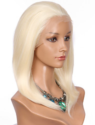 Women Synthetic Wig Lace Front Medium Length Straight Blonde Natural Hairline Bob Haircut Natural Wigs Costume Wig
