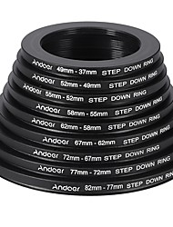 Andoer 18pcs 37-49-52-55-58-62-67-72-77-82mm Step Up / Step Down Lens Filter Metal Adapter Ring Kit