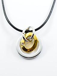 Недорогие -Для пары Ожерелья с подвесками  -  Нержавеющая сталь Хип-хоп Золотой, Черный Ожерелье Назначение Подарок, Повседневные