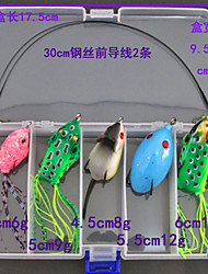5 pcs Frog Lure Packs g/Ounce mm inch,Plastic Sea Fishing Bait Casting Ice Fishing Spinning Freshwater Fishing Other Trolling & Boat