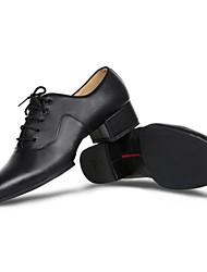 Недорогие -Для мужчин Латина Натуральная кожа Оксфорды Для закрытой площадки На толстом каблуке Черный 3 см