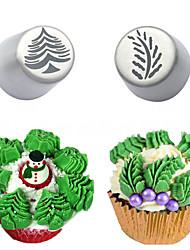 abordables -arbre de noël gâteau encadré embout bouche outils de décoration de gâteau outils de décoration de gâteau
