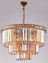 cheap -QIHengZhaoMing Pendant Light Ambient Light - Crystal Bulb Included, Rustic / Lodge LED Chic & Modern, 110-120V 220-240V Bulb Included