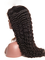 cheap -Human Hair Lace Front Wig Brazilian Hair Curly With Baby Hair 150% Density For Black Women Natural Hairline Short Medium Long Women's