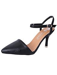 Femme Chaussures Polyuréthane Eté Confort Chaussures à Talons Marche Talon Aiguille Bout pointu Combinaison Pour Décontracté Noir Jaune