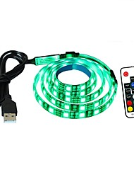 cheap -Light Sets 60 LEDs RGB Remote Control / RC Cuttable Dimmable Waterproof Color-Changing Self-adhesive Linkable <5V