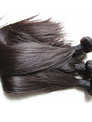 cheap -natural brazilian virgin silk straight human hair weaves 4bundles 400g lot natural hair color for one full head