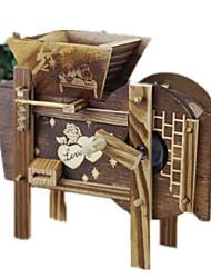abordables -Petites Voiture Boîte à musique Moulin à vent Nouveauté Moulin à vent Rétro Articles d'ameublement Enfant Adultes Enfants Cadeau Unisexe