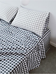 Gingham Poly/Cotton Fitted Sheet