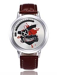 Per uomo Orologio sportivo Creativo unico orologio Orologio casual Cinese Digitale LED PU Banda Cartoni animati Teschio Fantastico