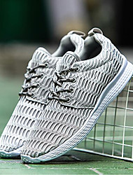 cheap -Women's Shoes Breathable Mesh Summer Fall Comfort Athletic Shoes Running Shoes Flat Heel Round Toe Lace-up for Athletic Casual Black Gray