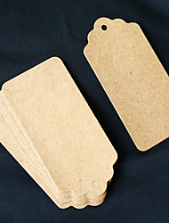 50pcs marron papier kraft tag 9.5 * 4.5 cm / pcs diy faveurs de mariage beter gifts® pratique