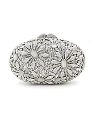 cheap -Women Bags Metal Evening Bag Crystal Detailing Pattern / Print for Wedding Event/Party All Seasons Silver