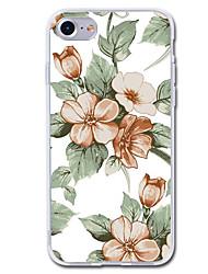 billiga -fodral Till Apple iPhone 7 Plus iPhone 7 Genomskinlig Mönster Skal Blomma Mjukt TPU för iPhone 7 Plus iPhone 7 iPhone 6s Plus iPhone 6s