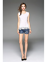 cheap -Cotton Tank Top - Solid, Lace