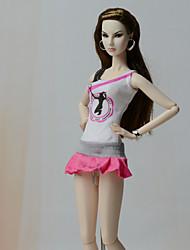 Недорогие -Платье куклы Платья Для Barbie Мода Кружево Смесь хлопка Шелково-шерстяная ткань Платье Для Девичий игрушки куклы