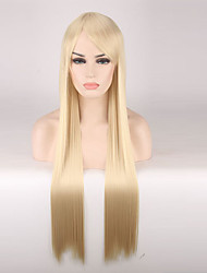 cheap -Women Synthetic Wig Capless Long Straight Strawberry Blonde Cosplay Wigs Costume Wig