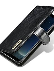preiswerte -Hülle Für Samsung Galaxy S8 Plus S8 Kreditkartenfächer Flipbare Hülle Magnetisch Ganzkörper-Gehäuse Volltonfarbe Hart Echtleder für S8