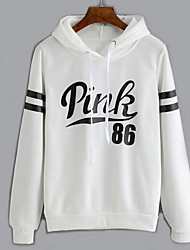 cheap -Women's Going out Hoodie Color Block Letter Hooded Micro-elastic Others Long Sleeve Spring Fall