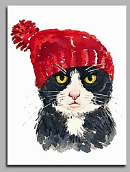 Little Red Hat Modern Artwork Wall Art for Room Decoration