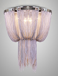 cheap -Italy Postmodern Tassel Hanging Lights Nordic Aluminum Chain Luxury Hotel Engineering Circular Lobby Absorb Dome Light In The Living Room
