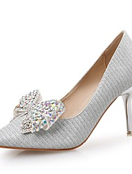 Women's Shoes Paillette Glitter Spring Fall Comfort Heels Stiletto Heel Pointed Toe Rhinestone For Wedding Party & Evening Silver