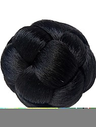 cheap -Black Classic New Year's Christmas Halloween Hair Bun Updo High Quality chignons Clip In Synthetic Hair Hair Piece Hair Extension Classic