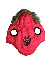 Chien Pulls à capuche Gilet Vêtements pour Chien Décontracté / Quotidien Formes Géométriques Jaune Rouge Costume Pour les animaux