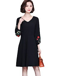 cheap -Women's Plus Size Daily Street chic Loose Swing Dress