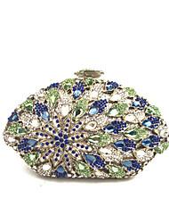 Недорогие -Жен. Мешки Металл Вечерняя сумочка Кристаллы для Свадьба / Для праздника / вечеринки Синий